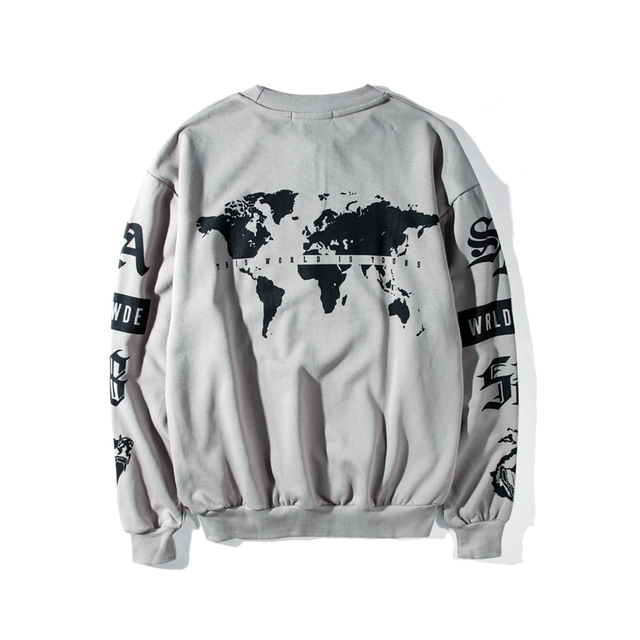 Oversized Kanye West Tiger Printed Swag Hoodie