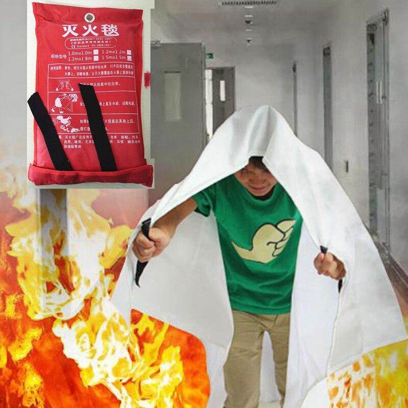Fire Blanket 1.5M X 1.5M Emergency Survival Fiberglass Fire Flame Retardant Safety Cover Fires Glass Fiber Clothing Blanket Home