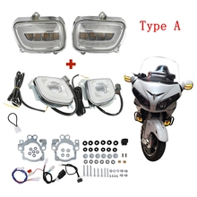 Motorcycle Motorbike Front Turn Signal Blinker and LED Turn Signal Driving Fog Light For Honda Goldwing GL1800 12-17 F6B 2013-17 motorcycle led front side turn signal blinker case for honda goldwing gl1800 gl 1800 2001 2017 f6b 2013 2018