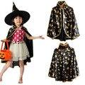 2016 Halloween costume children pumpkin Cloak pumpkin bag party show performance princess boys girls long cloak free size adult