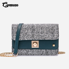 CGMANA Messenger Chain Bags Female 2018 New Fashion Korean Hit Color Material Small Square Shoulder Women Crossbody