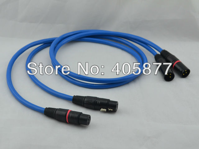 G5 audio cable with XLR Balance plug interconnect Balance cable 1M free shipping siltech g5 sq 88b audio interconnect cable with xlr balance plug interconnect balance cable