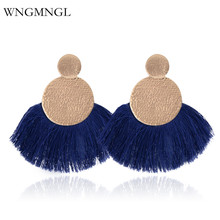 WNGMNGL 2018 New Fashion Vintage Ethnic Long Drop Dangle Earrings Party Colorful Tassle Jewelry for Women Accessories