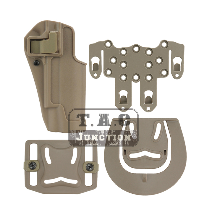 Tactical CQC Serpa Quick Right Hand Paddle Belt Loop Pistol Gun <font><b>Holster</b></font> w/ STRIKE <font><b>MOLLE</b></font> Platform for Colt <font><b>1911</b></font> M1911 image