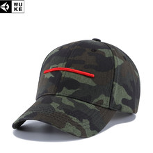8e5ced6dc3d WUKE New Embroidery Army Camouflage Baseball Caps Men s Snapback Hats  Gorras Militares Hombre Women Adjustable Baseball Caps