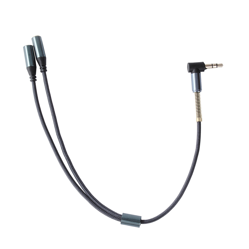 Malloom 2017 3.5mm 1 Male To 2 Female Dual Y Splitter Cable Adapter Earphone Headphone Jack for Mobile phone PC Computer