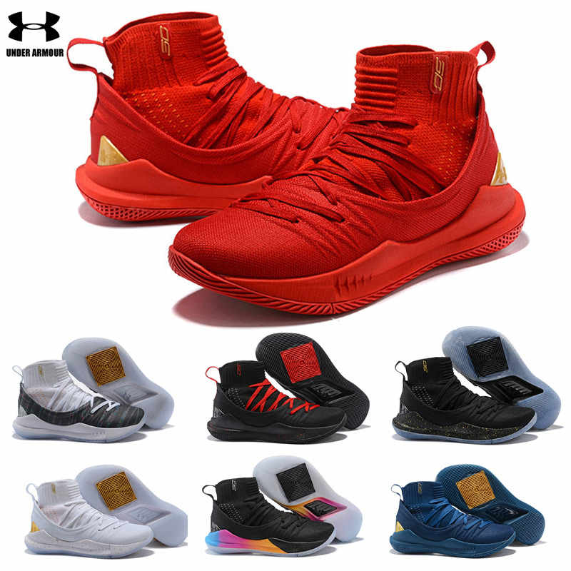 free shipping d632d 1d527 Hot Sale Under Armour Curry 5 Shoes Men UA 5 Basketball Shoes zapatos  hombre Outdoor Sneakers Man Athletic Sport shoes