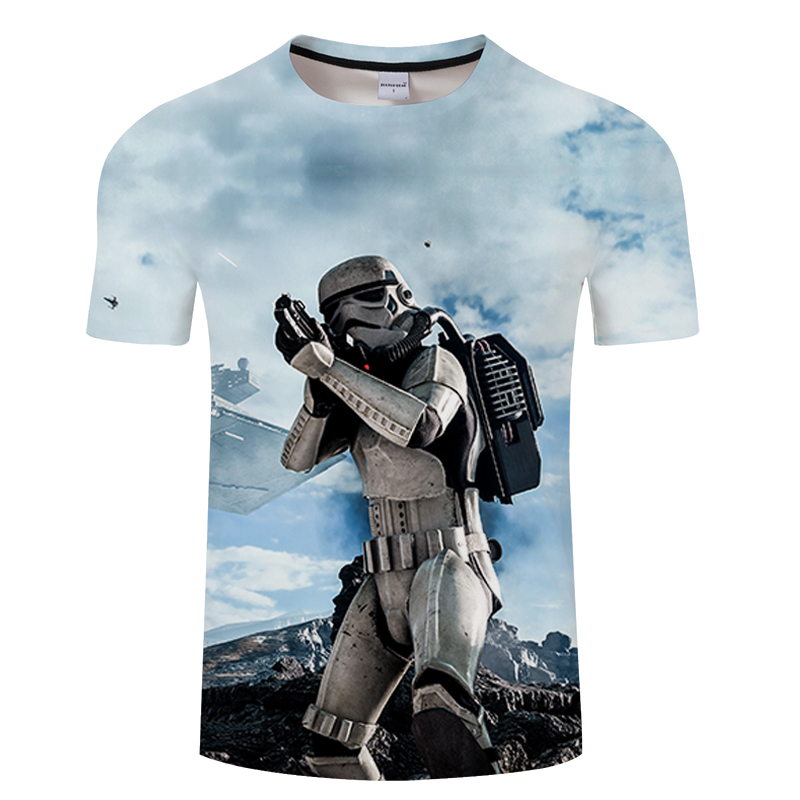 2019 Newest 3D Printed star wars t shirt Men Women Summer Short Sleeve Funny Top Tees Fashion Casual clothing Asian Size T-shirt