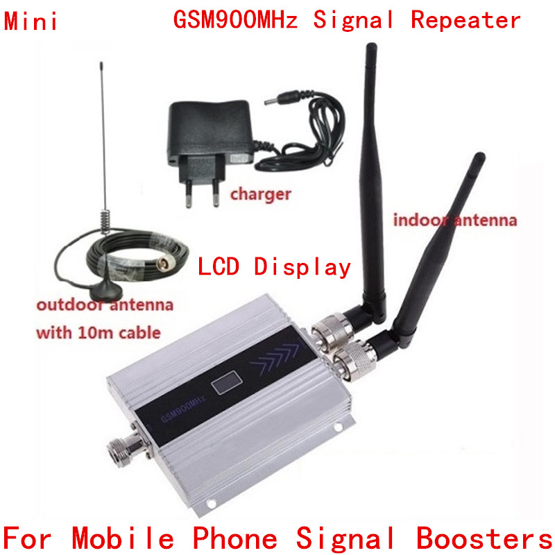 LCD New Upgrade GSM 900Mhz Mobile Phone Signal Repeater ,GSM Signal Booster , GSM 900 Cellular Phone Signal Repeater Booster