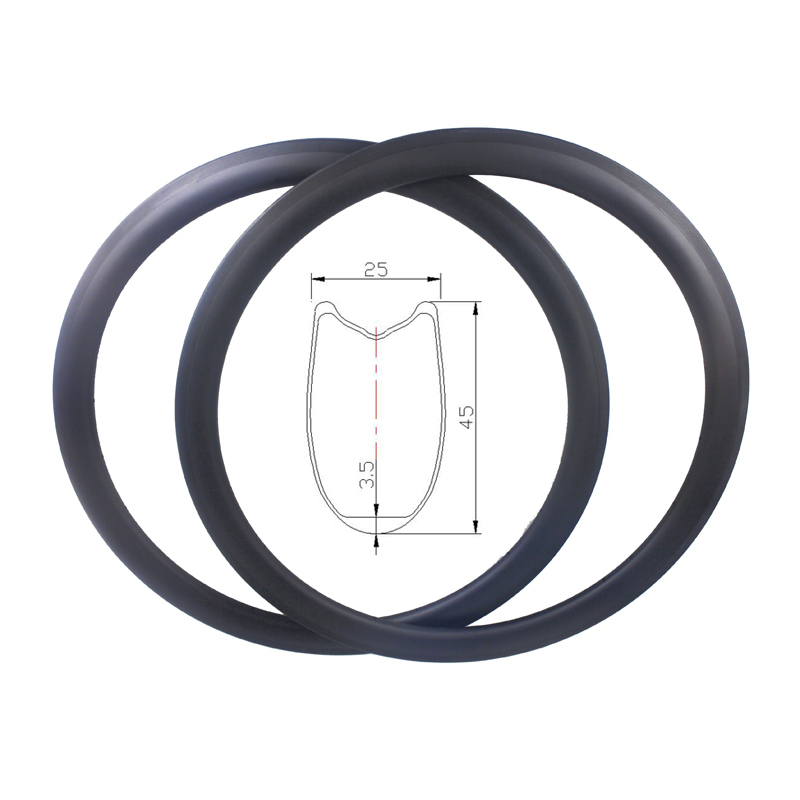 700C 45mm tubular cyclo cross CX race road bike carbon rims 25mm wide basalt surface V