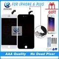 AAA Без мертвых пикселей Сенсорный Экран Для iPhone 6 Plus Дигитайзер Ассамблеи Замена Черный Белый + пленка + инструменты Freeshipping