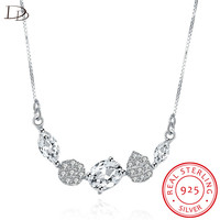 DODO Popular Geometric Zircon Choker Necklace For Women 925 Sterling Silver Jewelry Austrian Crystal Necklaces Wholesale