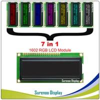 7 Mode RGB Backlight, FSTN Negative Mode (RGB on Black) 162 16X2 1602 Character LCD Module Display Screen LCM