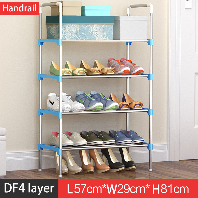 Hot Sale Shoe Rack Easy Assembled Plastic Multiple layers Shoes Shelf Storage Organizer Stand Holder adjustable shoe stand