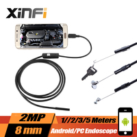 Endoscope For Android Snake Pipe Inspection Camera 8mm 2MP Borescope Android PC With OTG USB Cable