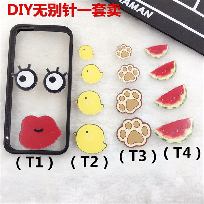 acrylic brooch New Harajuku cute Chicken watermelon badge brooch For Girl Diy phone accessories XZ91
