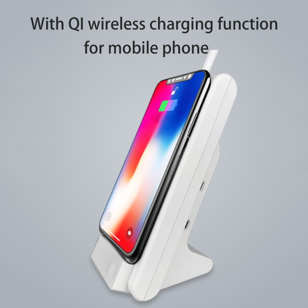 QI Wireless Charging Desk Lamp Eye Care LED Light Student Reading Lamp QI Wireless Charger Stand for Smart Phones indoor Lamp wooden qi wireless charger for qi enabled devices