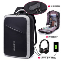 New Aluminum Handhold Light Laptop Backpack Anti Theft USB Charge Bag Business Trip Bags Large Laptop Bag with TSA Customs Lock