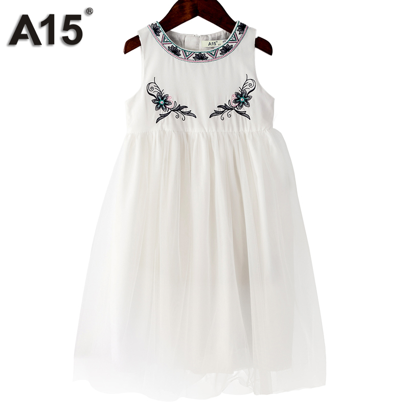 A15 Girl Dresses and Outfits Dress Baby Girl Fashion Clothes Robe Kids Dresses for Girls Birthday Clothing Brand 3 4 6 8 10 Year