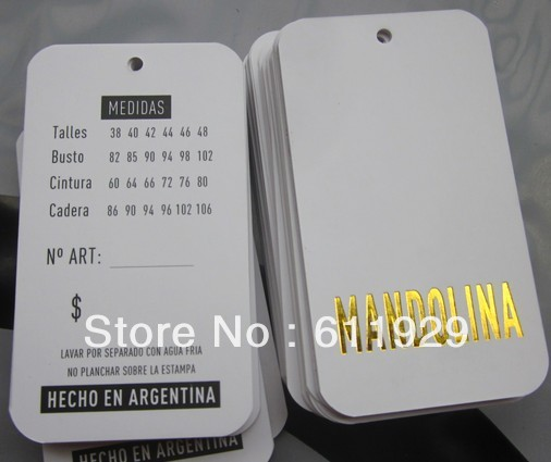 Aliexpress.com : Buy Free shipping customized paper hang tag/label ...