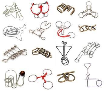 цена IQ Metal Wire Puzzle Magic Brain Teaser Rings Rope Puzzles Game for Adults Children онлайн в 2017 году