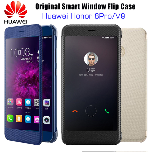 new styles 25d1b b8e5c US $9.98 22% OFF|HUAWEI Honor 8 Pro Case Original Official Smart View  Window Flip Case Huawei honor V9 honor 8pro Case Cover Protection Coque-in  Flip ...