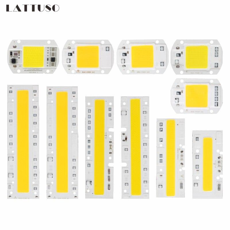 LATTUSO COB Chip LED Lamp 220V Smart IC No Need Driver Lampada LED Bulb For Flood Light Spotlight 10W 20W 30W 50W Diy Lighting