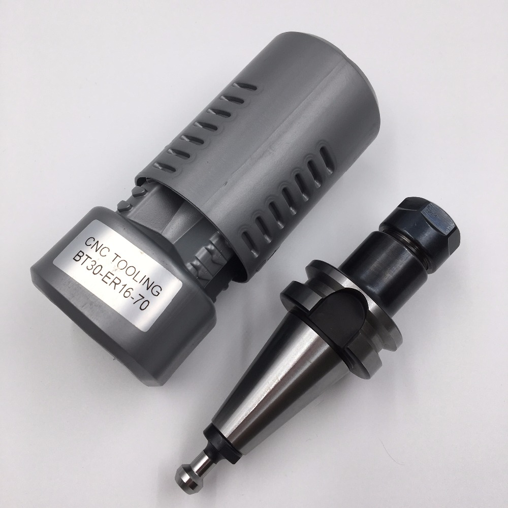 Toolholder BT30 ER16 Collet Chuck CNC Milling Lathe Tool Holder 30000rpm with Pull Stud High Speed bt30 er16 60 tool holder for cnc router spindle motor and milling lathe tool boring end mill
