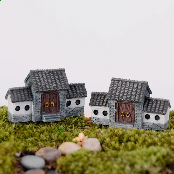 Chinese style the gates Fairy Garden Craft Micro Cottage Landscape Decoration Random Style For DIY Resin Crafts