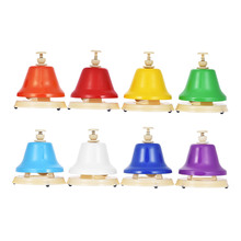 ammoon Colorful 8 Note Hand Bell Set Early Musical Educational Instrument Toy for Children Kids Student