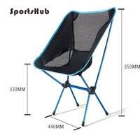 SPORTSHUB Ultra light Aluminium Multifunction Breathable Backrest Outdoor Camping Beach BBQ Picnic Fishing Folding Chair FT0047