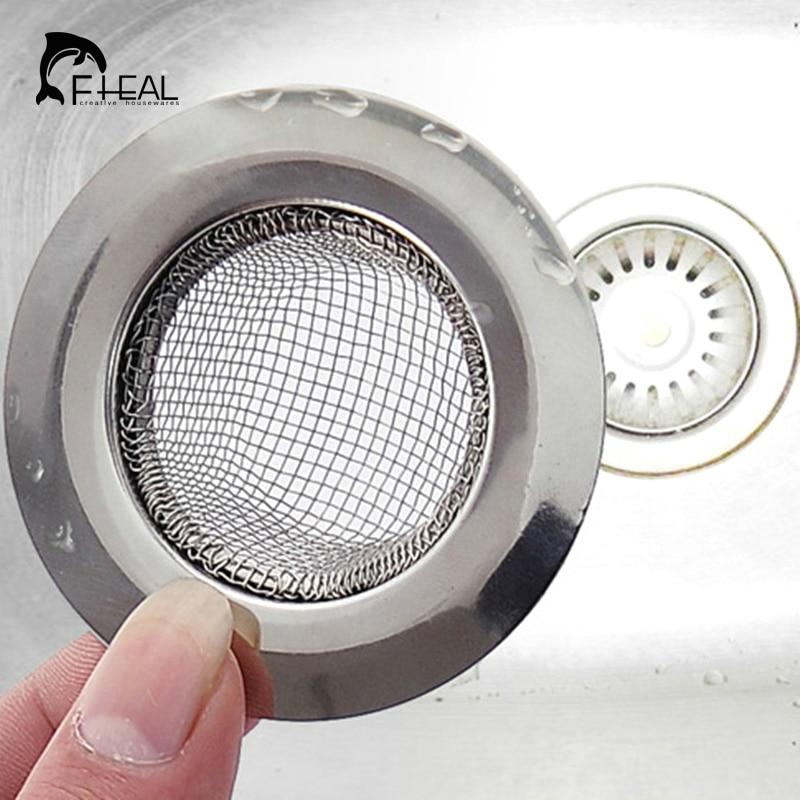 FHEAL Stainless Steel Mesh Kitchen Appliances Sewer Convenient Filter Barbed Wire Colander Sink Drainer Prevent Clogging