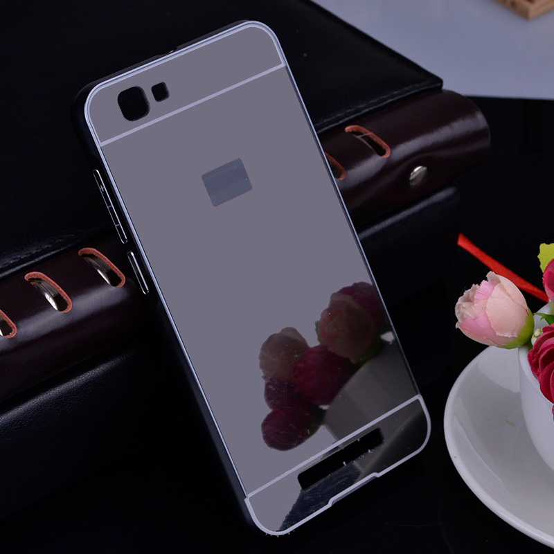 Aluminum Bumper For ZTE A610 Case Luxury Metal Frame Mirror Case PC Back Cover for ZTE Blade A610 V6 Max Gold Plating bumper 5.0