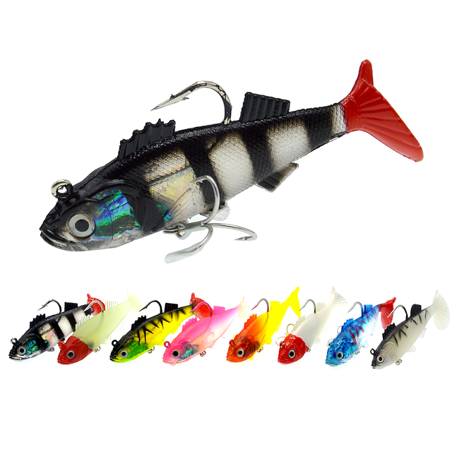 WLDSLURE 1Pcs 11.5cm/37g Artificial Fishing Soft Lures Sharp Hook lead Fishing Lure Lead Head Silicone Bait Fishing Tackle Lure