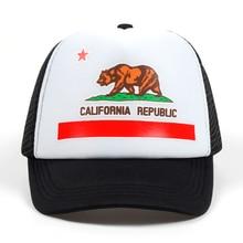 bc0a03a6d0a TUNICA Trucker Hat Flag Snapback Mesh summer Retro Love Vintage California  cap