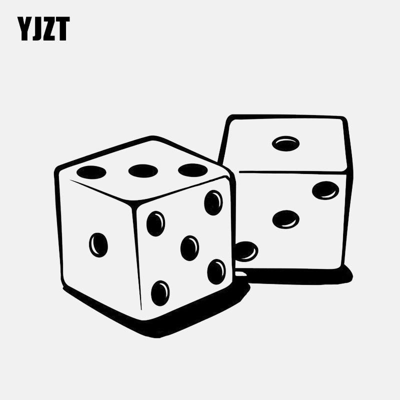 YJZT 11.8*8.7CM Funny Dice Game Decor Vinyl Car Sticker Silhouette C12-1323