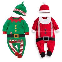 2016 Christmas Gift Baby Boys And Girls Long Sleeved Cotton Group Of Children Clothing Hat Two