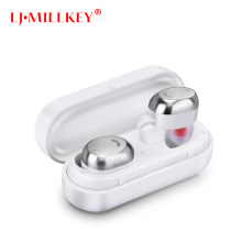 M9 TWS Bluetooth Earphone Bluetooth Headset Wireless Earbud Metal Charge Case for Phone Mic for Calls LJ-MILLKEY YZ105