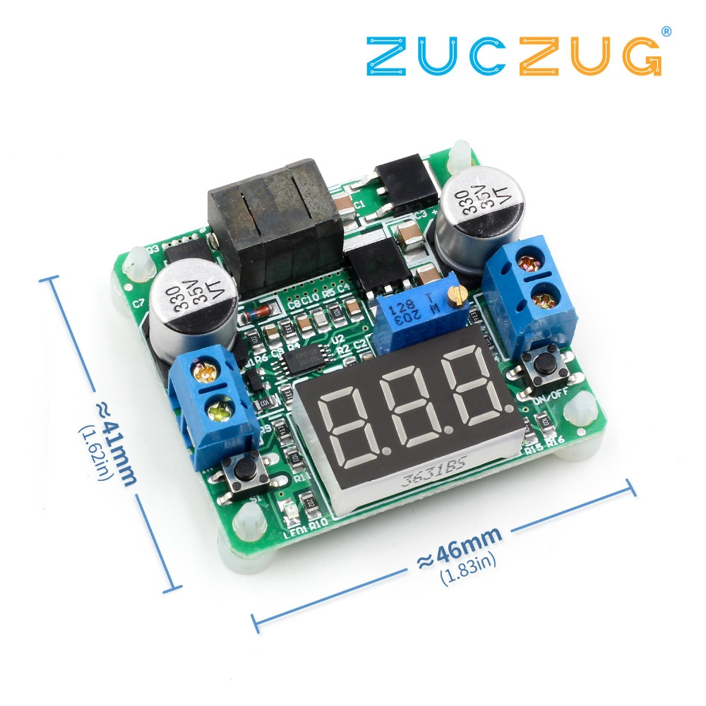 25W Boost Buck Converter DC 5-25V to 0.5-25V 5v 12v Adjustable Step Up Down Power Supply Module Voltage Regulator led Voltmeter  - buy with discount