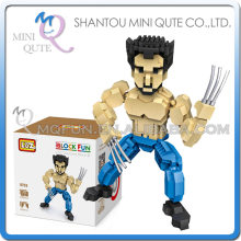 Mini Qute LOZ movie characters super hero robot werewolf plastic building blocks model educational toy(China)