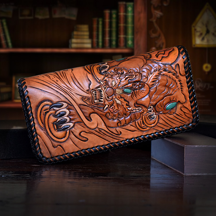 OLG.YAT leather handmade wallet men or women purse Brave lucky wallets long zipper handbag Vegetable tanned cowhide Choi cloth olg yat leather handmade wallet men purse womens handbag italian vegetable tanned cowhide wallets the book button long handbags