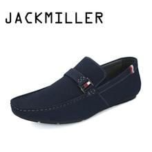 Jackmiller Summer Men Shoes Male Casual Slip On Light Soft Men Hot sale Shoe Comfortable Handmade Flats Male Footwear Casual