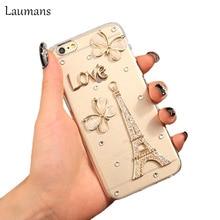 Laumans для Iphone6 плюс Чехол оригинальный бренд Bling Бий Перл сотовый телефон чехлы для iPhone 6 Plus 5.5 «горный хрусталь Чехол