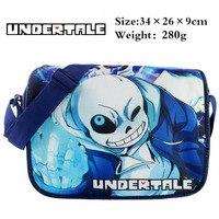 Game Undertale Sans Student Satchel School Bag Printed Shoulder Bag Kids Book Bag Messenger Bag For