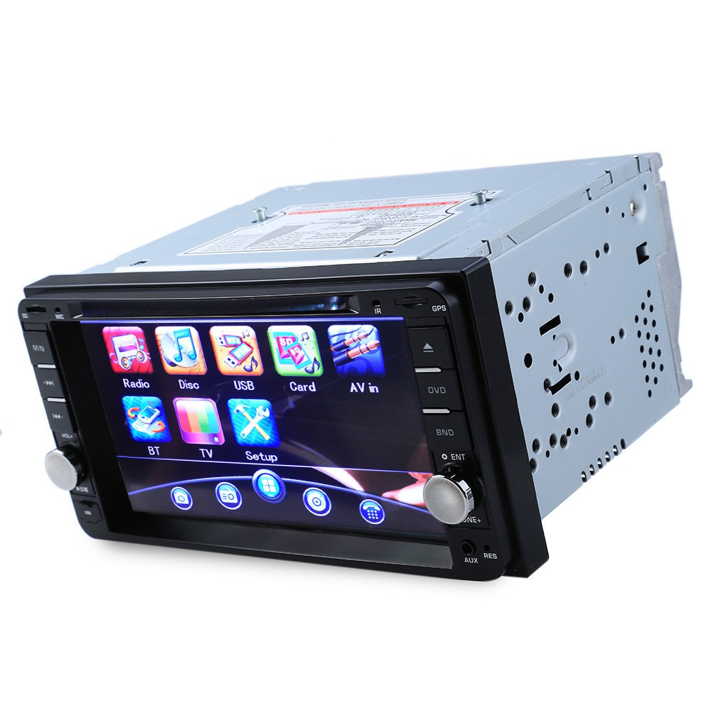 New 2 Double Din Car DVD Player MP3 Car Multimedia Player Bluetooth FM Radio USB SD HD 7 Inch Stereo Audio Video for Toyota professional 6 2 inch 6201a audio dvd sb sd bluetooth 2 din car cd player with automatic memory play car dvd player