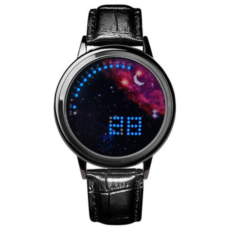 Korean version of the trend personality smart simple LED night light touch screen watch cool male and female students star lover(China)