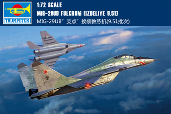"""Trumpet 01677 1:72 Russia MIG -29UB """"fulcrum"""" replacement trainer (9.51 batches) Assembly model"""