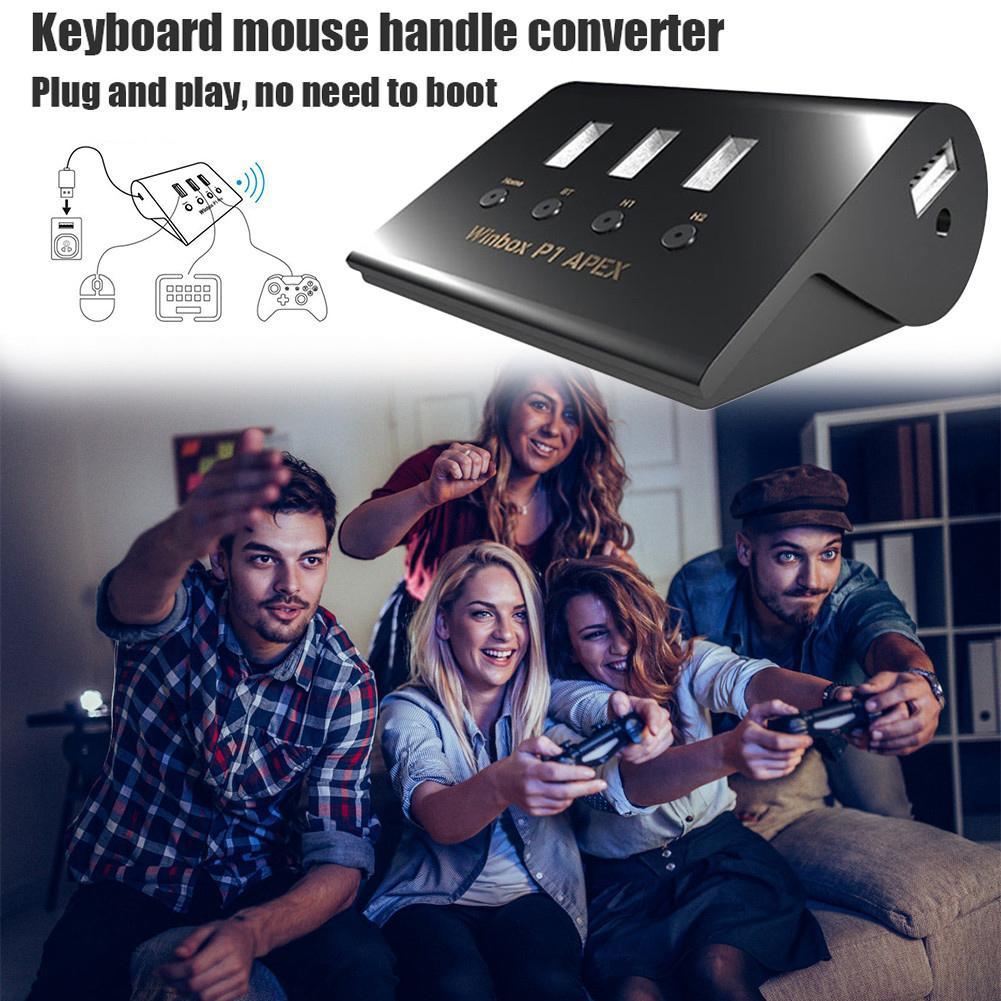 Rastreador De Vuelo Winbox P1 Apex Ratón Convertidor De Teclado Con Bluetooth Para Ps4 Interruptor Xbox Uno Convertidor De Teclado Con Bluetooth