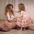 Cheap Charming Pink Flower Girl Dresses 2016 Lovely Spaghetti Straps Knee-Length first communion dresses for ball gowns girls