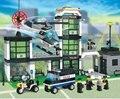 Sistema del bloque compatible con lego city hotel de pasatiempos educativo policía 3d de construcción de ladrillo juguetes para los niños